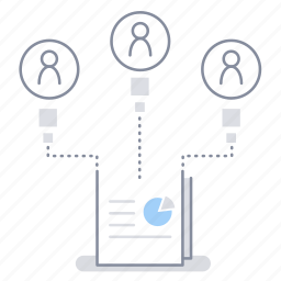 assignee, business, construction, project management, share, team, work icon