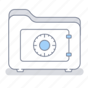 confidentiality, folder, lock, office, safe, save, secret icon