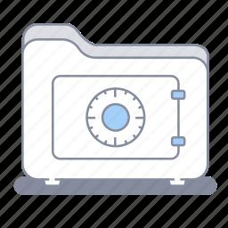 confidentiality, folder, guardar, lock, office, safe, save, secret icon