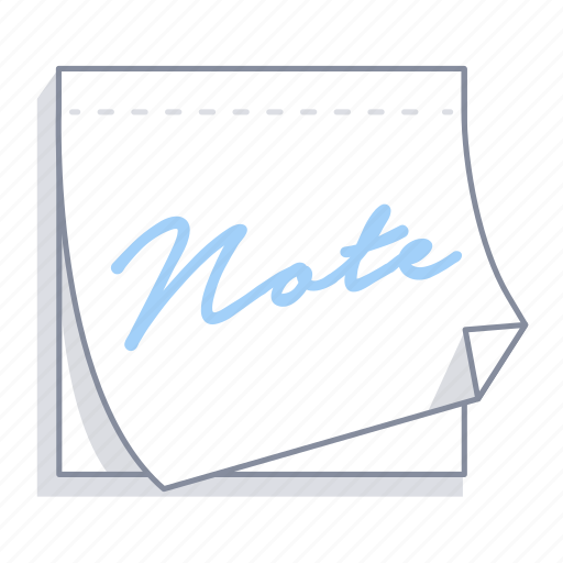minute, note, office, paper, post-it, sticky note, text icon