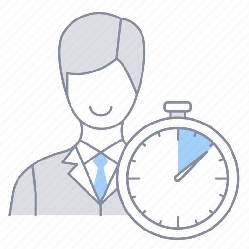 businessman, internship, kpi, officer, performance, time, velocity icon