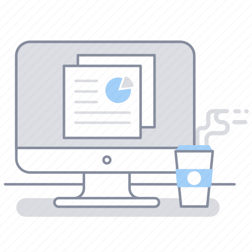 business, computer, document, office, presentation, station, work icon