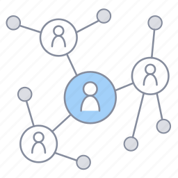 business, company, organization, project management, share, team, work icon