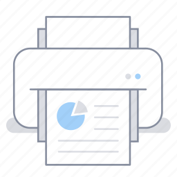 business, document, file, office, presentation, print, printer icon