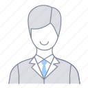 businessman, employee, investor, man, office, officer, salesperson icon