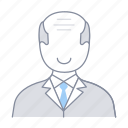 boss, businessman, ceo, employer, man, office, old icon