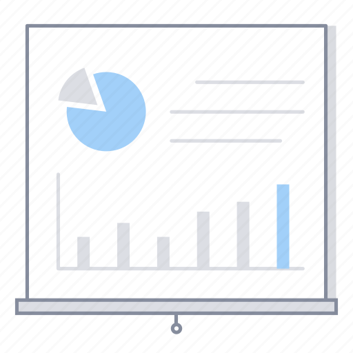 analytics, business, chart, office, presentation, report, statistics icon
