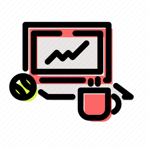 accountant, accounting, computer, finance, laptop, macbook icon