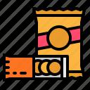chips, food, junk, snack, snacks
