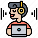 audio, distraction, eliminate, noise, working icon