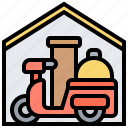 bike, courier, delivery, food, service icon