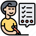 check, done, listing, planning, work icon