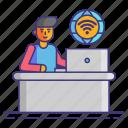 online, remote, wifi, work