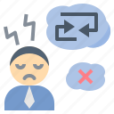 blur, confuse, disorder, stress, unhappy icon