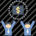 bonus, commission, employee, salary, wage icon