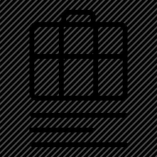 bag, business, description, employee, job, worker icon