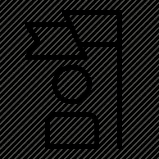 business, employee, flag, goal, job, worker icon