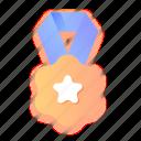 badge, award, trophy, winner, medal, prize