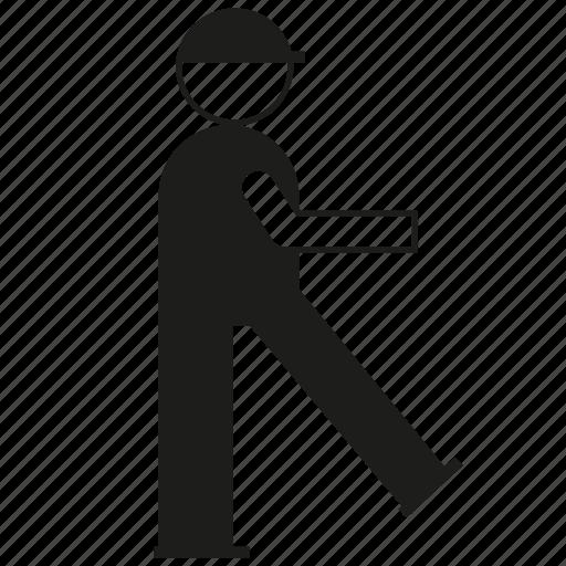 man, people, walk, worker icon