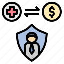 claim, compensation, insurance, request, welfare icon