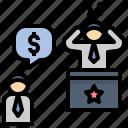 compensation, demand, ignore, negligence, suing icon