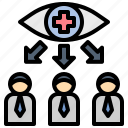 observation, take, care, surveillance, inspection icon