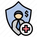compensation, coverage, employee, welfare, workmen icon