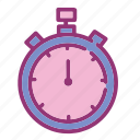 clock, equipment, fitness, gym, sports, timer, workout icon