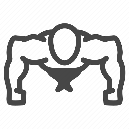 bodybuilding, chest, exercise, fitness, push up, training, workout icon