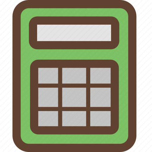 calculate, calculator, mathematics, numbers, stationery icon