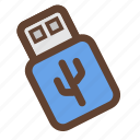 computer device, data storage, external drive, flash drive, storage, universal serial bus, usb icon