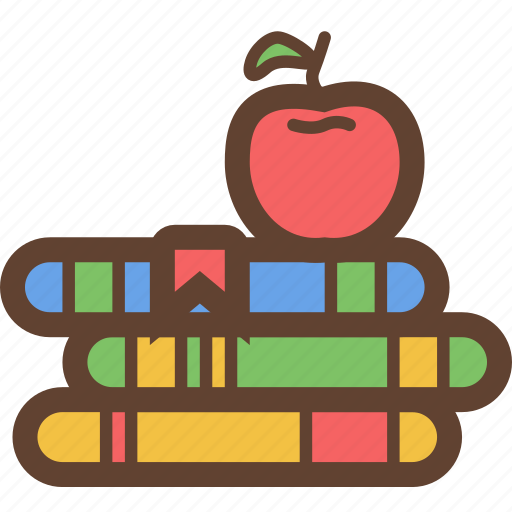 Apple, book, books, education, read, reading, storybook icon - Download on Iconfinder