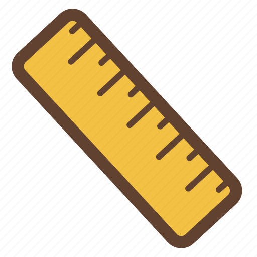 measure, measurement, ruler, school, stationery icon