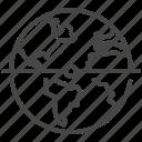 center, equator, global, half, international, world, zone icon