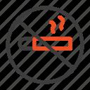 cigarette, health, no, smoking icon