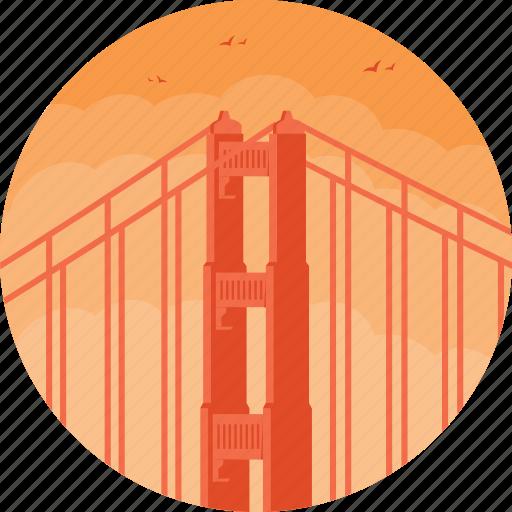 california, golden gate bridge, pacific ocean, san francisco, usa icon