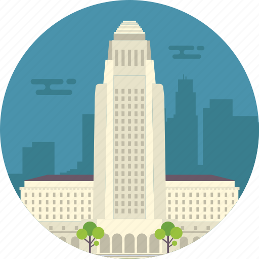 california, los angeles, los angeles city hall, world famous building, world famous city icon