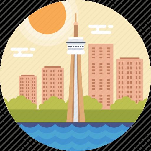 canada, canada landmark, cn tower, toronto, world's tallest tower icon