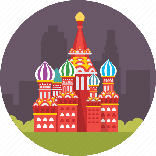 moscow, red square, russia, saint basil's cathedral, saint basil's church icon