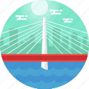 oregon, portland, tilikum bridge, tilikum crossing, united states icon