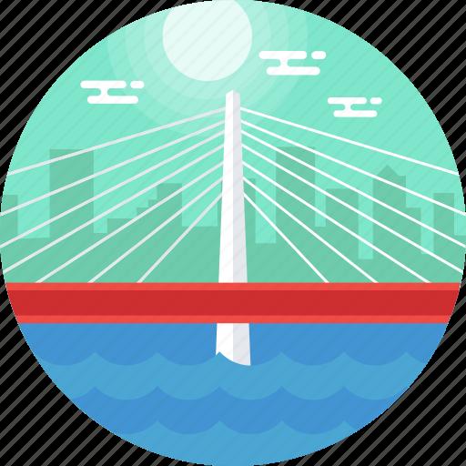 oregon, portland, tilikum bridge, tilikum crossing, united states icon