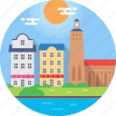 iconic buildings, stockholm, stockholm city hall, stortorget, sweden icon