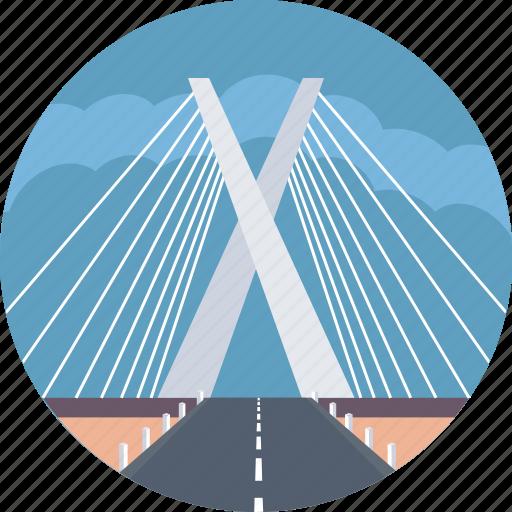 brazil, octavio frias de oliveira bridge, sao paulo, sao paulo most famous bridge icon