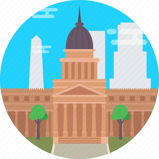 Argentina, argentine national congress palace, buenos aires, congressional palace, national congress of argentina icon - Download on Iconfinder