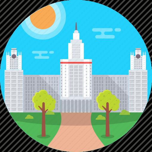 lomonosov moscow state university, lomonosov university, moscow, msu, russia icon