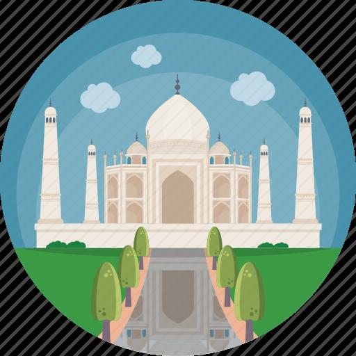 Agra, mumtaz mahal, taj mahal, uttar pradesh, yamuna river icon - Download on Iconfinder