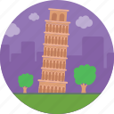italy, landmark, leaning tower of pisa, pisa, world famous building icon