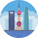 china, oriental pearl radio & tv tower, oriental pearl tower, shanghai, shanghai skyline icon