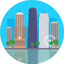 chicago, chicago cityscape, chicago skylines, city of chicago, united states icon