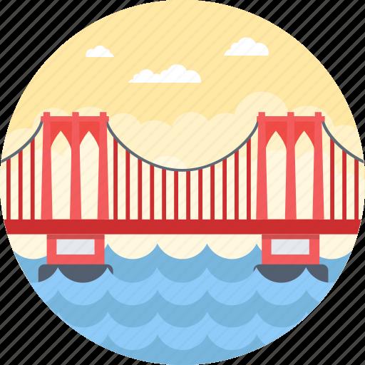 brooklyn bridge, brooklyn heights, east river, manhattan, new york city icon